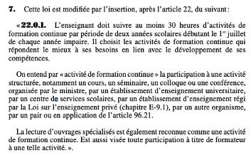 Article 22.0.1. de la loi 40
